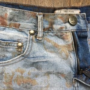 Free People: Distressed Ripped Jean Shorts